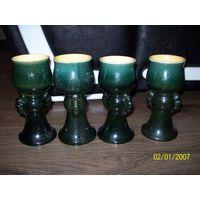 4 бокала керамические для морса