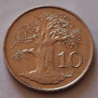 Зимбабве, 10 центов 1980 г