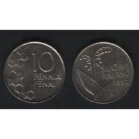 Финляндия km65 10 пенни 1992 год (M) (f34)