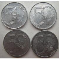 Чехия 50 геллеров 1993, 2002, 2003, 2006 гг. Цена за 1 шт. (v)