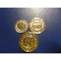 Суринам 3 монеты одним лотом