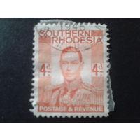 Южная Родезия 1937 колония Англии король Георг 6
