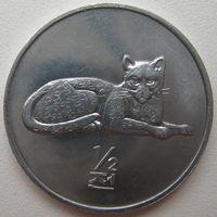Северная Корея 1/2 чона 2002 г. Мир животных. Леопард (u)