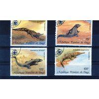 WWF Крокодилы на марках Конго