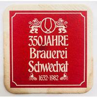 Подставка под пиво 350 Jahre Brauerei Schwechat /Австрия/