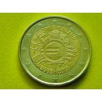 Финляндия, 2 евро 2012, биметалл, 10 лет евро наличными