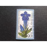 Берлин 1975 альпийский цветок Михель-1,4 евро гаш. концевая марка серии