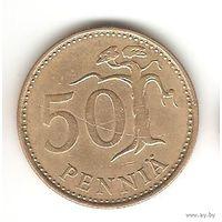 50 ПЕННИ 1981 ФИНЛЯНДИЯ. СОСНА