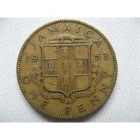 Ямайка 1 пенни 1953 г.