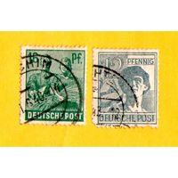 Германия-Союзническая оккупационная зона-1947- Марки-Рабочие