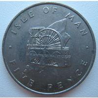 Остров Мэн 5 пенсов 1976 г. (g)