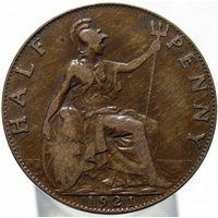 Великобритания 1/2 пенни 1921 (382)