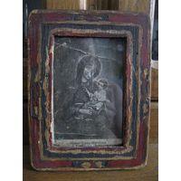 Старинная чудотворная Борунская икона Божией Матери. Первая четверть прошлого века.