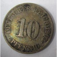 Германия. 10 пфеннигов 1903 J . 815000 шт. 1-44