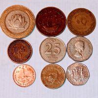 Монеты разных стран мира с рубля. Лот 7.