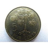Сейшелы 5 центов 1982 г.