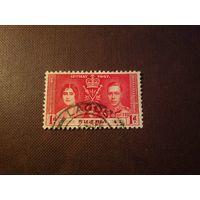 Британская Нигерия 1937 г. Король Георг VI и Королева Елизавета.
