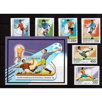 Бенин-1997(Мих.919-924,Бл.26) ** , Спорт, ЧМ-1998 по футболу