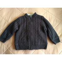 Коричневая кофточка-курточка, примерно 1,5-2 года