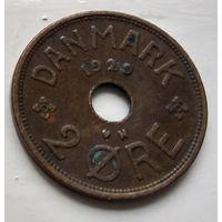 Дания 2 эре, 1929  2-2-4