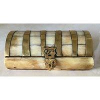 Шкатулка из кости (сундучок) Этника, Индия