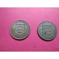 Джерси 2 Юбилейки 900 лет битве при Гастингсе + 300 лет вступления на престол короля Карла II с 1 копейки без минимальной цены -9-489