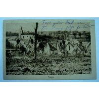 """Открытка города """"Flabas"""" 1916г. Франция"""
