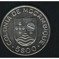 Португальский Мозамбик 5 эскудо 1935 г. Серебро.
