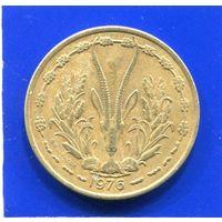 Западная Африка 25 франков 1976