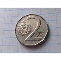 Чехия 2 кроны, 1994 ( Отметка монетного двора:  (b с короной) - Яблонец-над-Нисой, Чехия )