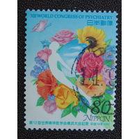 Япония 2002 г. Цветы.