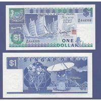 Банкнота Сингапур 1 доллар (1987) UNC ПРЕСС бумага