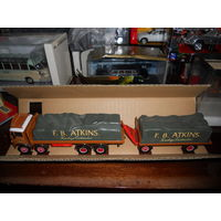 "Atkinson 8 Wheel Truck & Trailer With Loads Set ""F.B. Atkins"" .Corgi Classics 1/50."