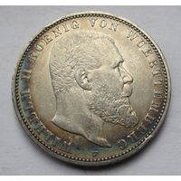Германия, Вюртемберг, 5 марок, 1895, серебро