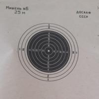 Мишень для стрельбы Досааф номер 6  25м