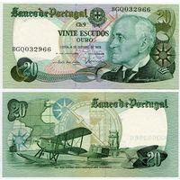 Португалия. 20 эскудо (образца 1978.10.04 года, P176b, подпись 1, UNC)