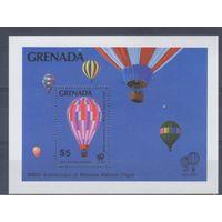 [24] Гренада 1983. Авиация.Воздушные шары. БЛОК.