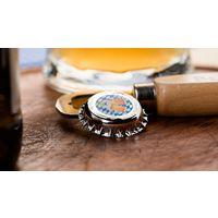 """RARE Палау 1 доллар 2016г. """"Пивная пробка. 500 лет Баварскому закону о чистоте пива"""". Монета в капсуле; подарочном футляре; сертификат в виде подставки; коробка. СЕРЕБРО 2,5гр."""