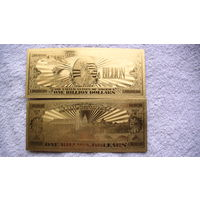 США золотая банкнота 1000 000 000 $. распродажа