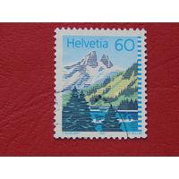 Швейцария 1993г. Горы.