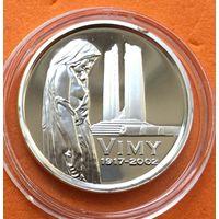 КАНАДА Proof 5 центов 2002 г СЕРЕБРО (925) Битва на хребте Вими