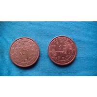 Португалия 2 цента 2008г распродажа