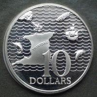 Тринидад и Тобаго 10 долларов. 1976