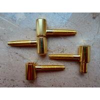 Петля мебельная / дверная латунная диаметр 16 мм, 7 петель Metafranc Германия цена указана за одну петлю.