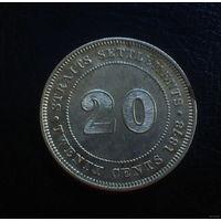 Стрейтс Сетлментс 20 центов 1878 (СЕРЕБРО)
