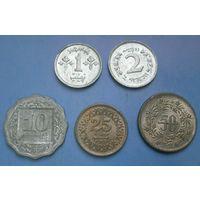 Пакистан 5 монет 1-2-10-25-50 пайсов (UNC)