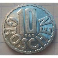 Австрия 10 грошей, 1964           ( 6-5-2 )