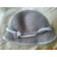 Шапка женская, шерстяная на 56 р,шляпка.
