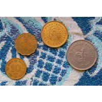 Колония Британии Гонконг 10, 20, 50 центов; 1 доллар. Елизавета II. AU. Инвестируй в монеты планеты!