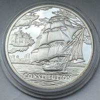 """Корабль """"Constitution"""" (""""Конститьюшн""""), 20 рублей 2010"""
